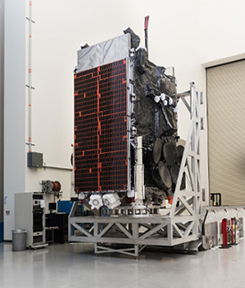 The ninth Wideband Global SATCOM (WGS-9) satellite was built by Boeing in its El Segundo, Calif.-based Satellite Development Center. (Boeing photo)